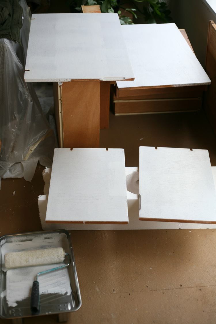 Prime Back Sides Of Doors And Drawer Fronts, And Cabinets. I Used A Wall  Roller For The Larger Surfaces So It Went Really Quickly.