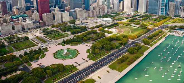 Grant Park e Buckingham Fountain em Chicago