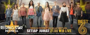 6 besar rising star indonesia 2014, hasil rising star indonesia best of 6, judul lagu yang dinyanyikan peserta 6 besar rsi 2014, hasil voting peserta babak semi final rising star best of 6