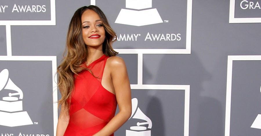 Grammys: Celeb Diary: Rihanna @ 2013 Grammy Awards