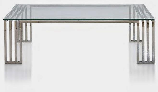 mesa de centro para salon en acero