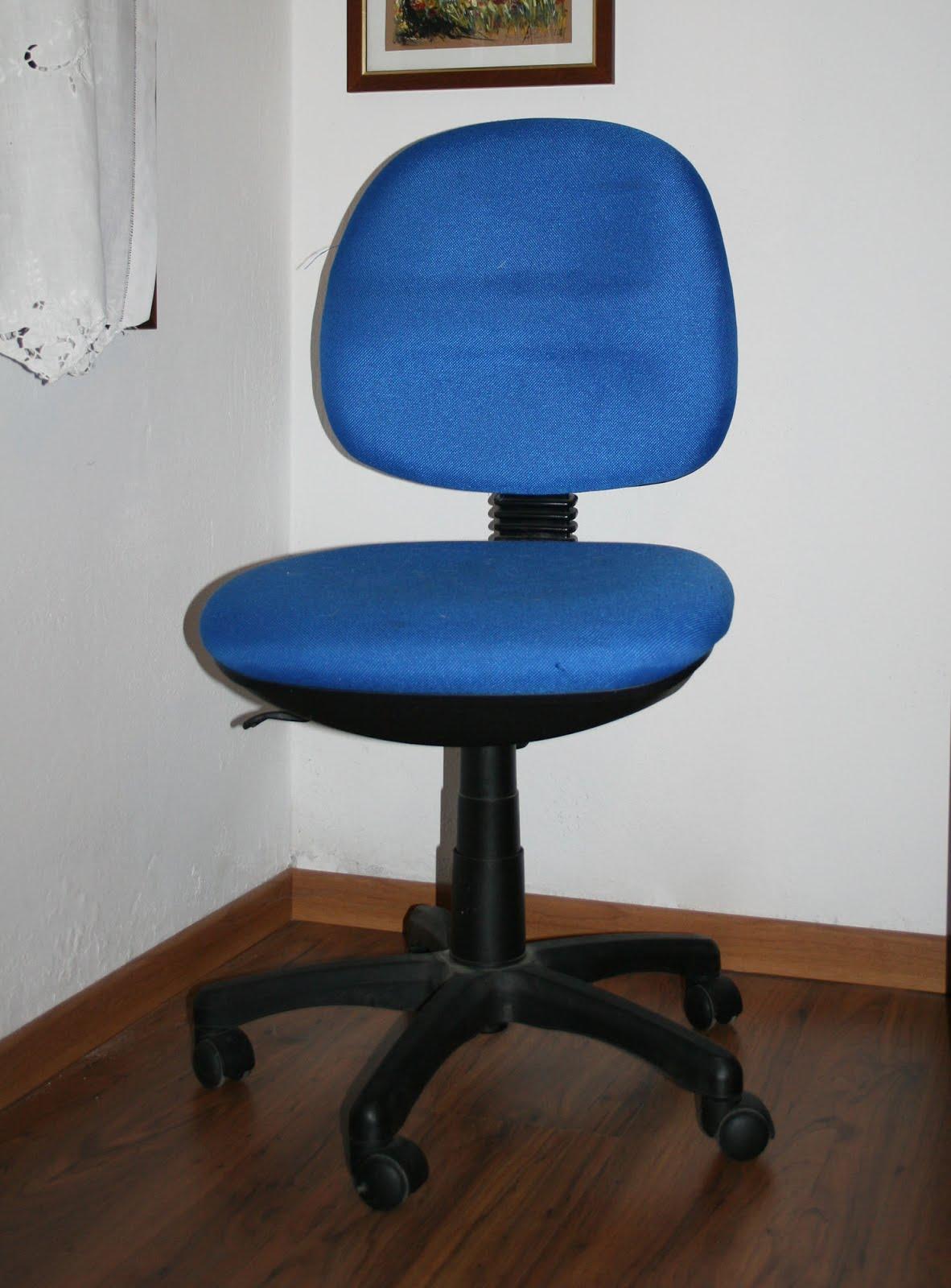 Creo decoro e rinnovo rivestire una sedia da ufficio for Sedute da ufficio