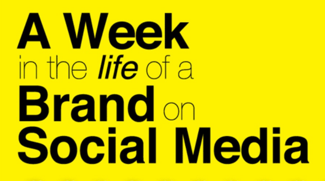 A Week in the Life of a Brand on Social Media - infographic - what brands were in 2012 and what they became in 2013