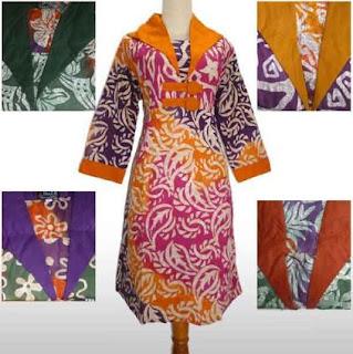 Desain tunik batik terbaru 2017