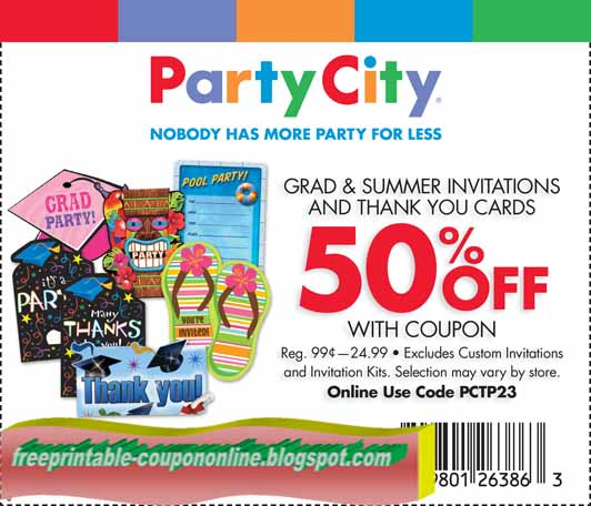 image about Party City Coupons Printable titled Printable bash metropolis coupon codes april 2018 - Rate coupon