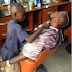 [PHOTO] Meet 10-Year-Boy Who Makes At Least N5,000 Daily As A Barber