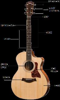 bagian bagian gitar