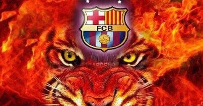 Wallpaper Barcelona Fc 3d Foto Blog Cul 201 Tigre Con Fuego Y El Escudo Del Bar 199 A