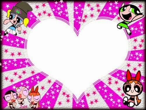 Para hacer invitaciones, tarjetas, marcos de fotos o etiquetas, para imprimir gratis de Las Super Nenas para San Valentín.