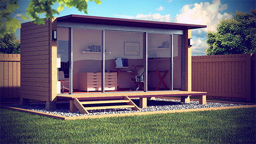 Shedworking shipping container garden office
