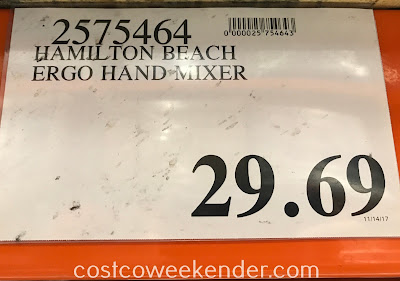 Deal for the Hamilton Beach ErgoMix Ergonomic Hand Mixer at Costco