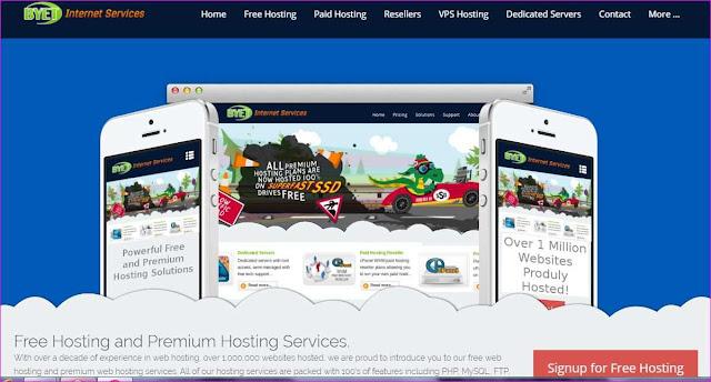 Byet internet service hosting
