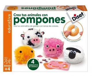 Juego para hacer animales con pompones