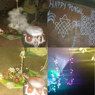 happy pongal live images, Tamil tradition nature god pongal