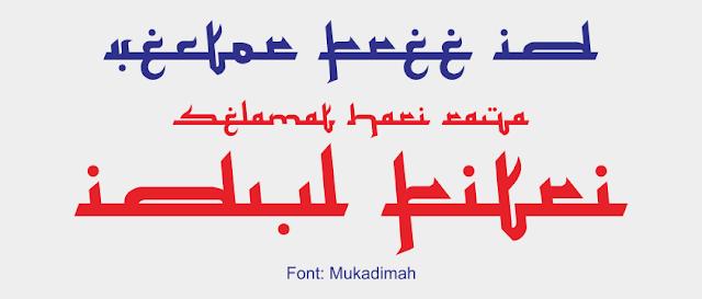 Font Mukadimah