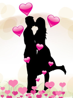 Easy Pic Download Kiss And Love Mobile Wallpaper