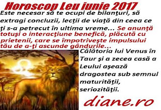 Horoscop iunie 2017 Leu