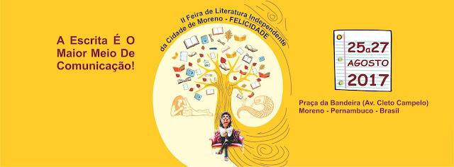 O poeta Wagner Martins na II Feira de Literatura Independente da Cidade do Moreno – FELICIDADE/2017