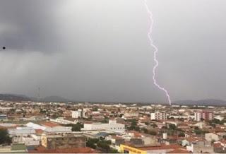 Chove forte no Sertão e Inmet emite alerta para 19 cidades