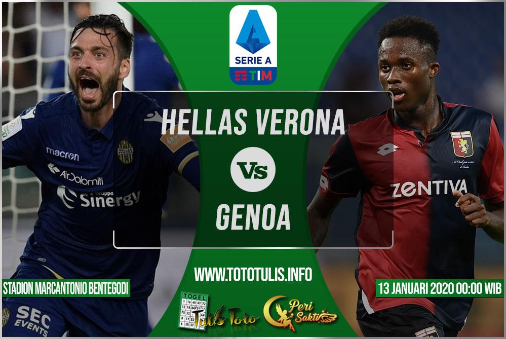 Prediksi Hellas Verona vs Genoa 13 Januari 2020
