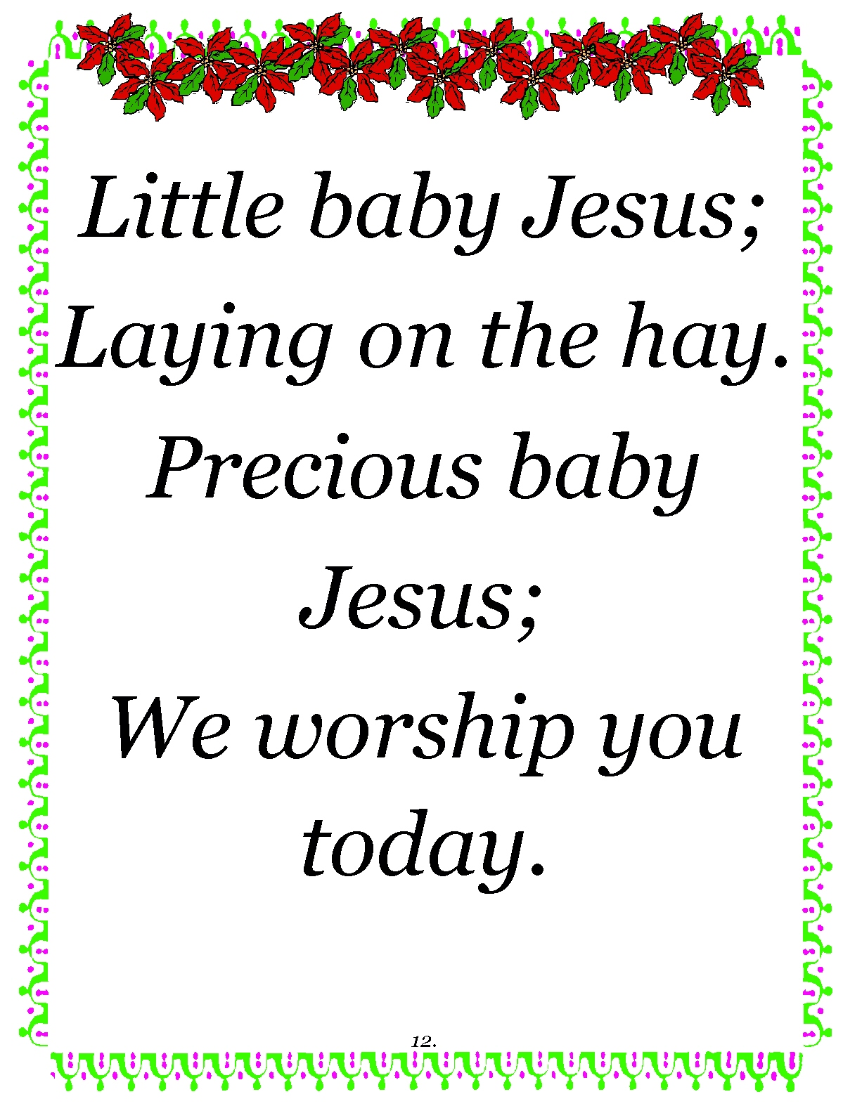 Short Christmas Poems For Church.Jesus Poems Images Reverse Search