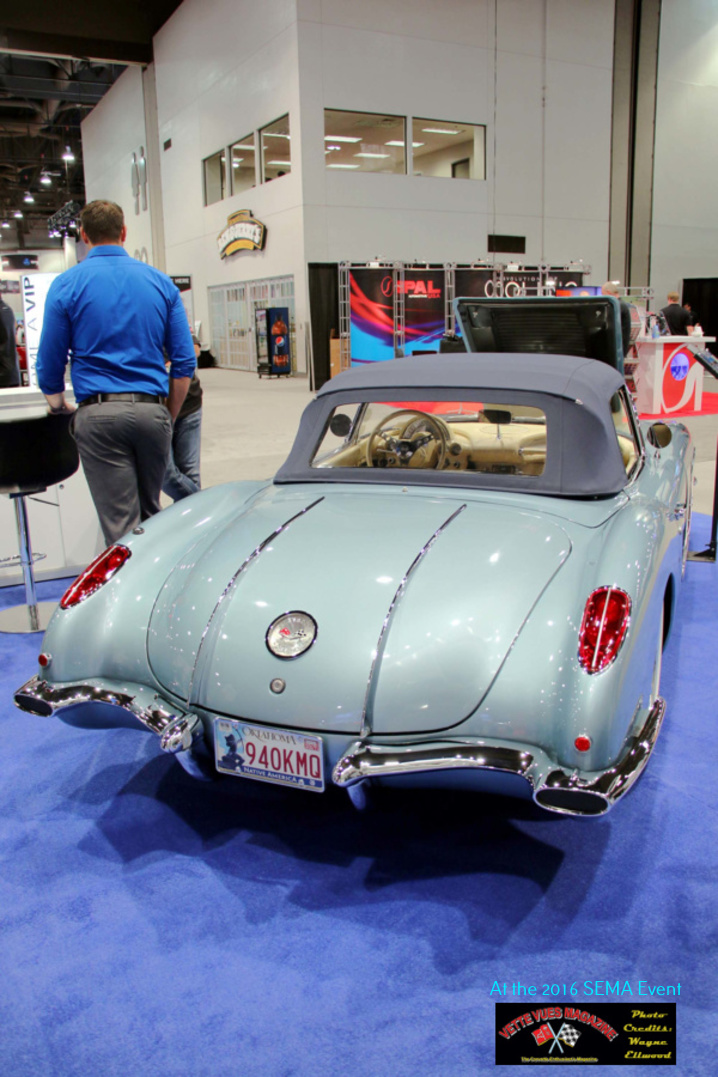 The 1958 Corvette's chrome trunk spears were unique to 1958.