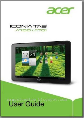 Acer Iconia Tab A700 manual