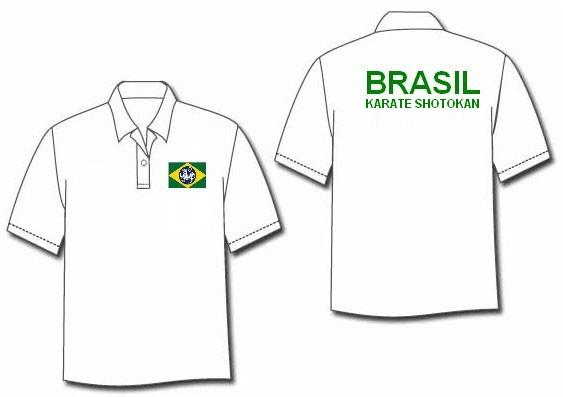 41dd94ef703f7 Histórias do Karatê Brasileiro e Mundial  Modelos de camisetas polo ...