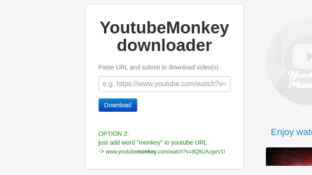 download video dengan YoutubeMonkey