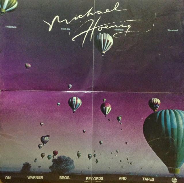 Poster de la campaña promocional realizada por Warner Bros. para el álbum Departure From The Northern Wasteland (1978), de Michael Hoenig