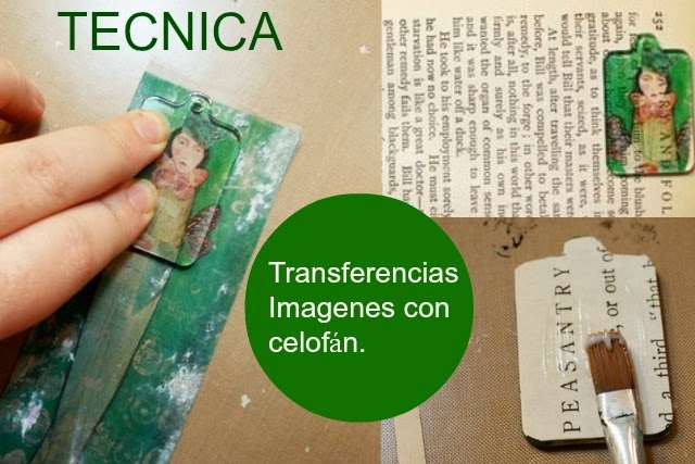 Como hacer transferencias de Imagenes con cinta de celofan