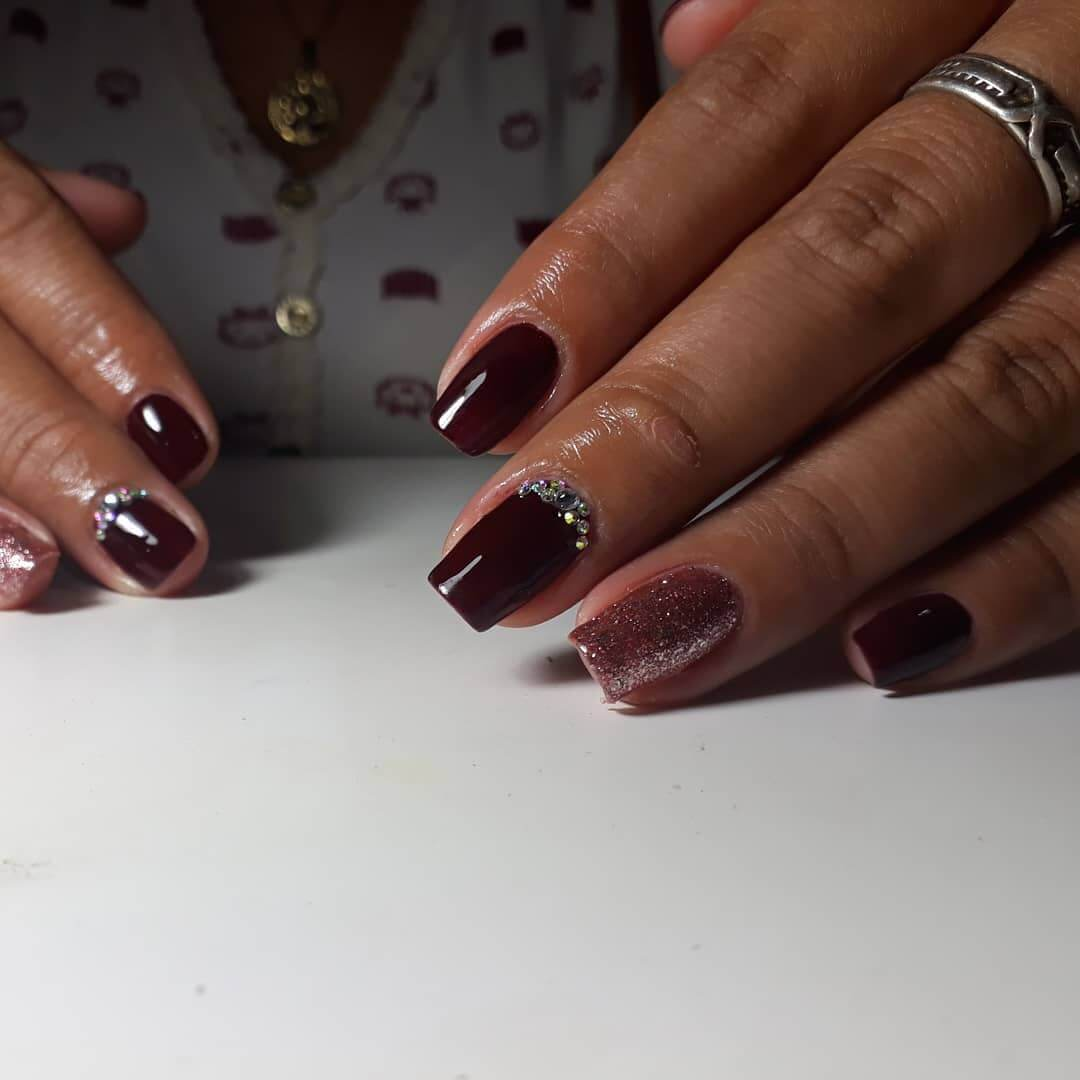 22+ Best Stunning Glitzy Nail Designs With Diamonds To Try In 2020