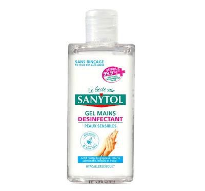Gel mains désinfectant Sanytol pour peaux sensibles