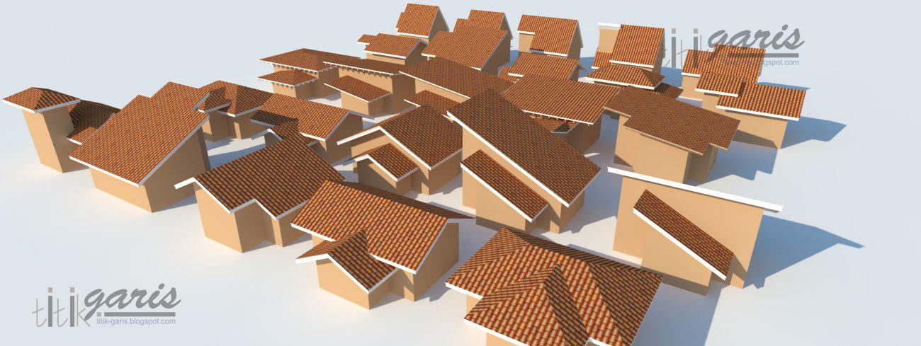 Tutorial Buat Atap Instant Dengan Google Sketchup Rumah