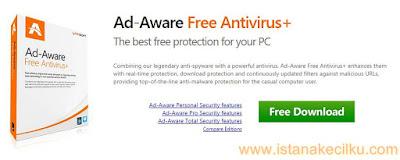 Ad aware Free Antivirus+ adalah perangkat lunak bebas alias gratis. Ini adalah anti-spyware legendaris dengan antivirus yang powerfull. Perangkat lunak ini memberikan Anda perlindungan secara real time dan filter yang terus diperbarui terhadap URL yang berbahaya. Hal ini juga membantu bagi pengguna komputer biasa untuk menghapus malware dari perangkat mereka dan melindungi mereka dari malware, Trojan, spyware dan URL berbahaya lainnya.