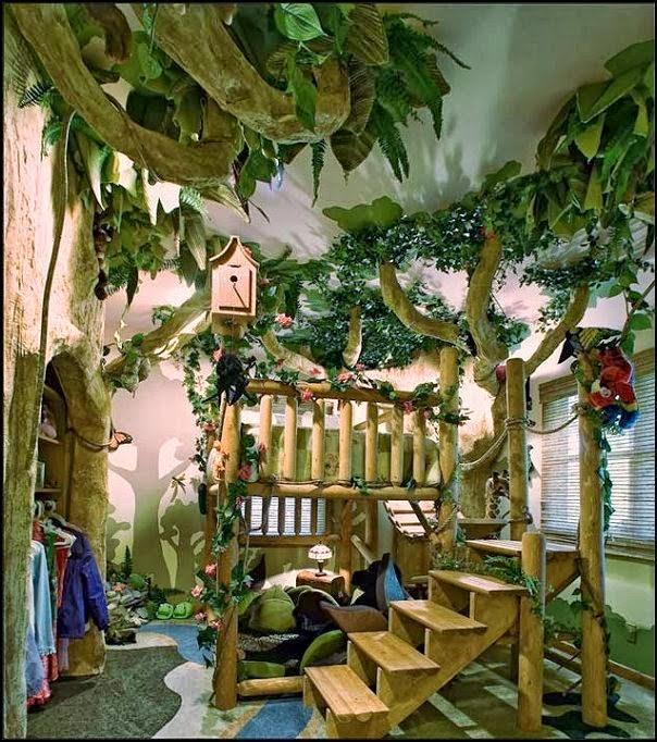 dormitorio tema selva