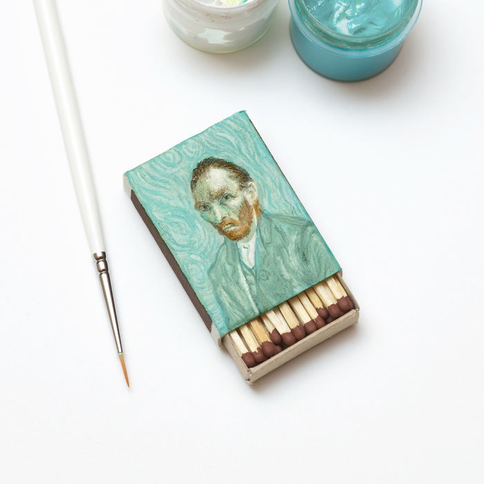 02-Self-portrait-Vincent-Van-Gogh-Salavat-Fidai-Салават-Фидаи-Miniature-Paintings-on-Matchboxes-and-Pumpkin-Seeds-www-designstack-co