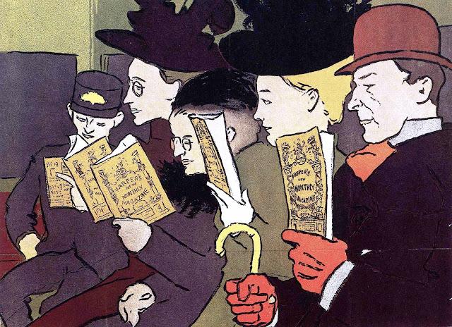 Edward Penfield illustration, 1890 public transit