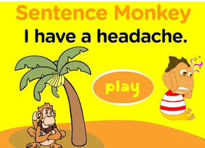 http://www.freddiesville.com/games/health-illness-sentence-monkey-game/