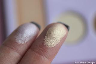 Review: Mrs. Bella - 12 Farben Lidschatten & Highlighter Palette - Swatch