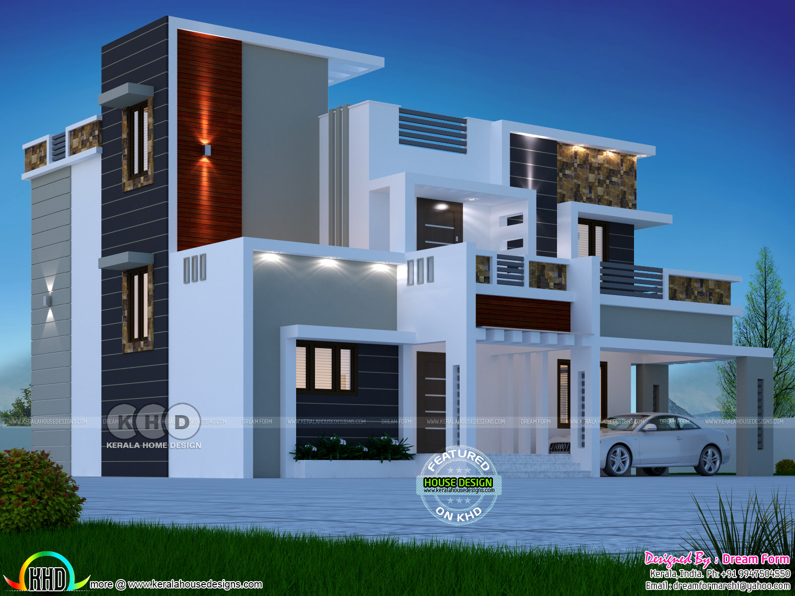 4 Bedroom 2074 Sqft Modern Home Design Kerala Home Design