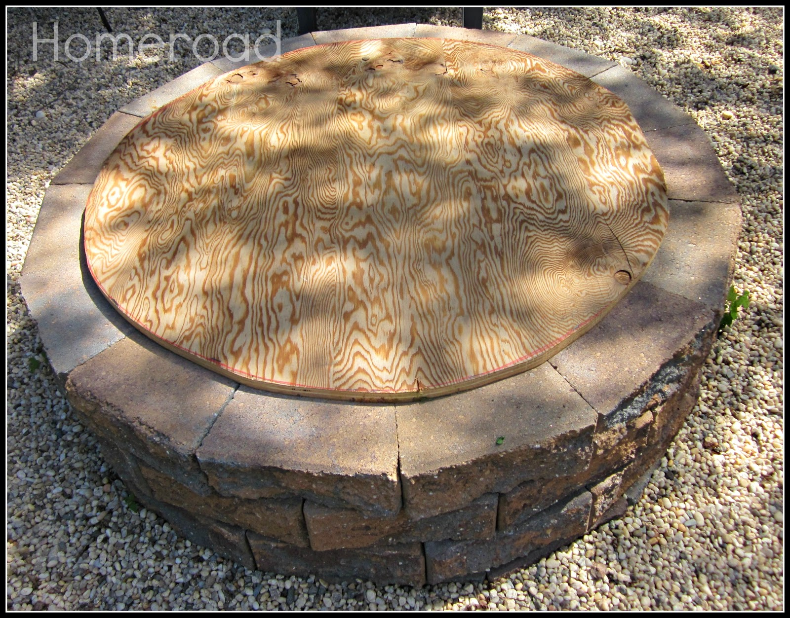 Wooden Fire Pit Cover  Homeroad