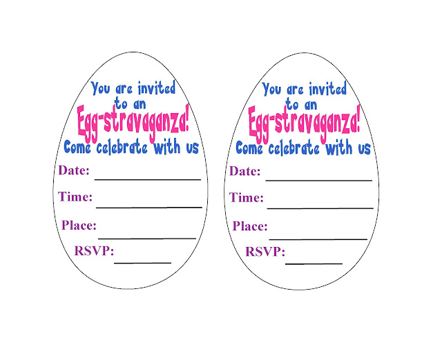 What a fun way to get your guests excited for your Easter party.  This printable invite is easy and so awesome to make.