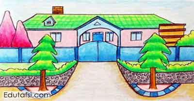 Belajar menggambar rumah