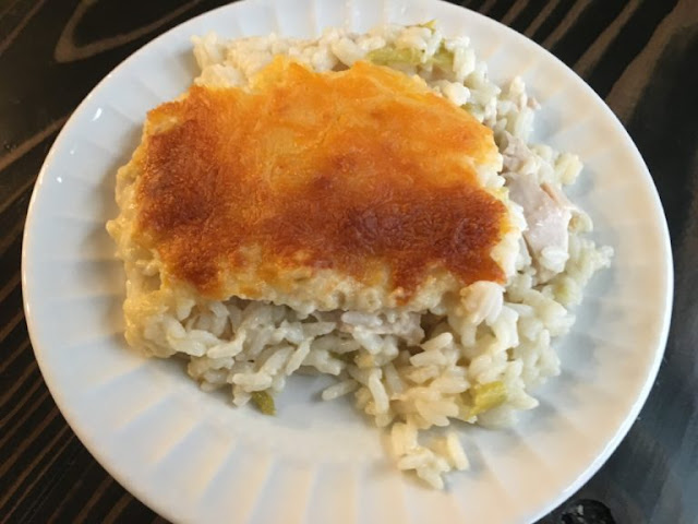 Featured Recipe // Cheesy Green Chile Chicken and Rice Casserole from Well Dined