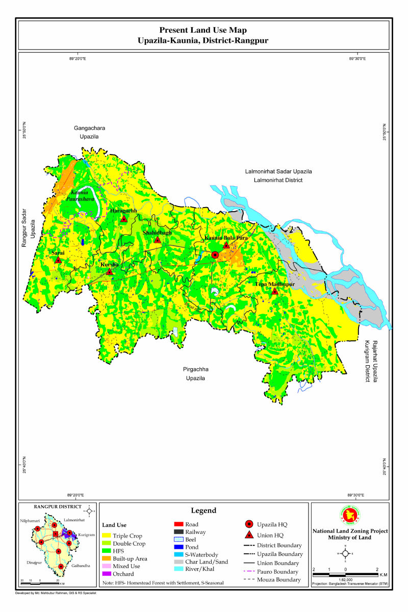 Kaunia Upazila Mouza Map Rangpur District Bangladesh