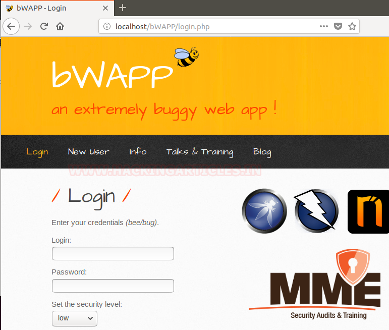 Configure Web Application Penetration Testing Lab