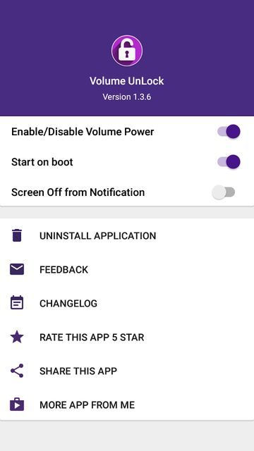 Make Volume Button to Turn On Android Screen