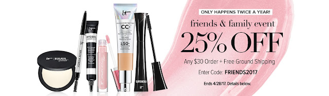 25% off 30 order at itcosmetics by barbies beauty bits