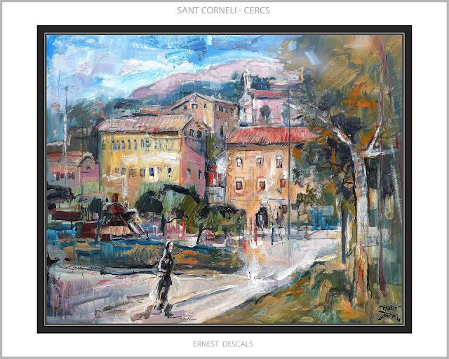SANT CORNELI-CERCS-PINTURA-COLONIES-MUSEU-MINES-BERGA-BERGUEDÀ-PAISATGES-CATALUNYA-PINTURES-ARTISTA-PINTOR-ERNEST DESCALS--